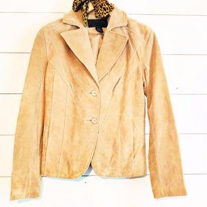 Boho Leather Suede Jacket Blazer 70's Inspo NWT